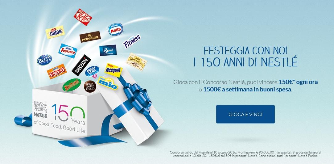 Nestlè festeggia 150 con un concorso