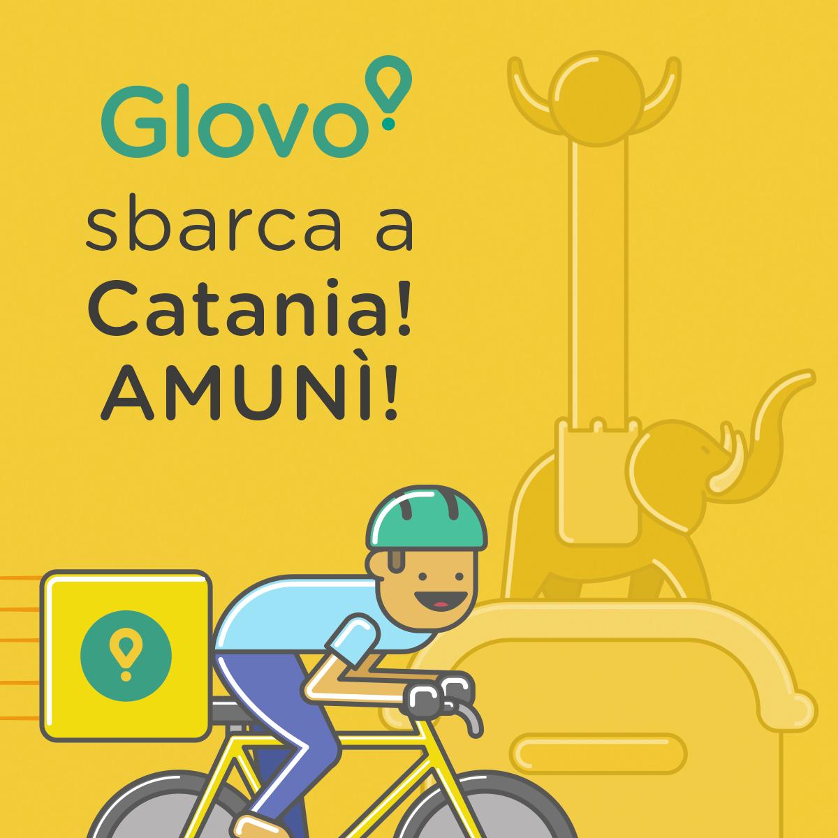 L'App di Glovo arriva a Catania