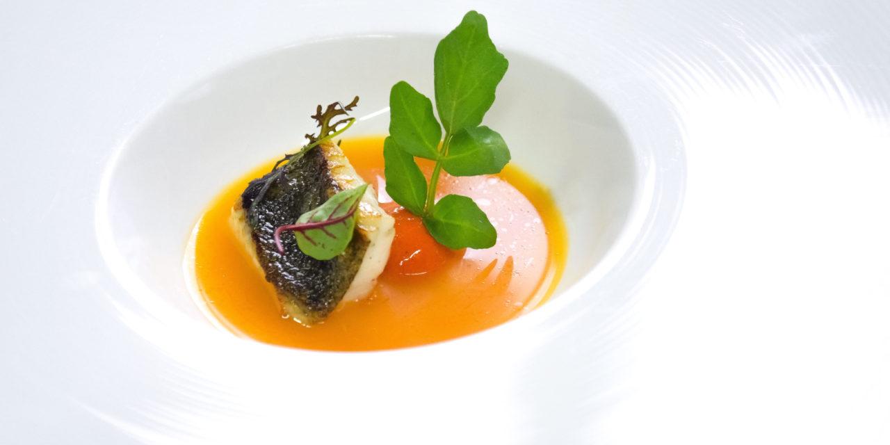 Rombo, brodo di pomodoro e gelatina di papacelle by Valerio Braschi