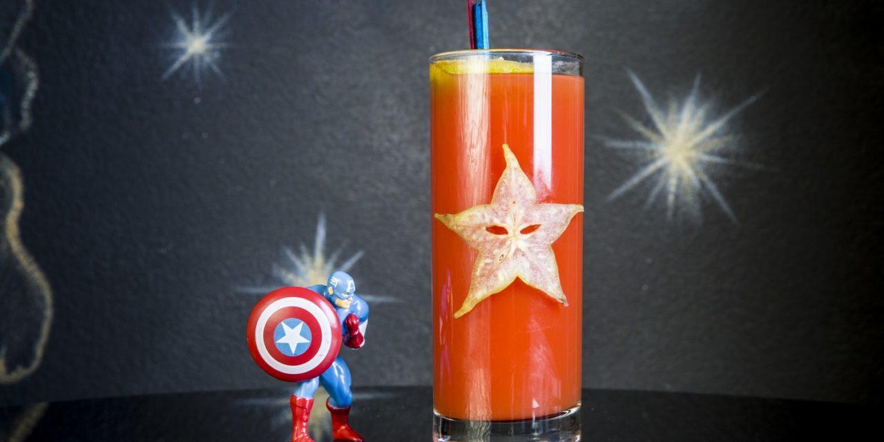 drink cinema SENTINEL OF LIBERTY ispirato a Captain America in Avengers: Endgame de I Maestri del Cocktail