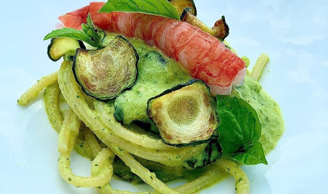Spaghetti alla Nerano, gambero rosso e Cedro della Costiera Amalfitanaby antonio DANISE