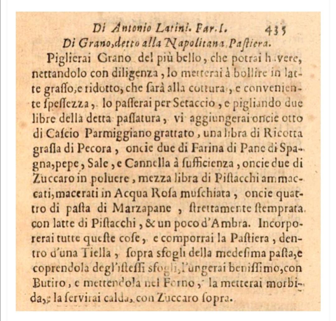 pastiera_la ricetta di Antonio Latini