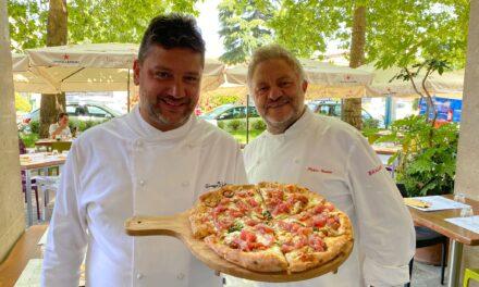Peppe Guida firma le pizze di Daniele Gourmet ad Avellino