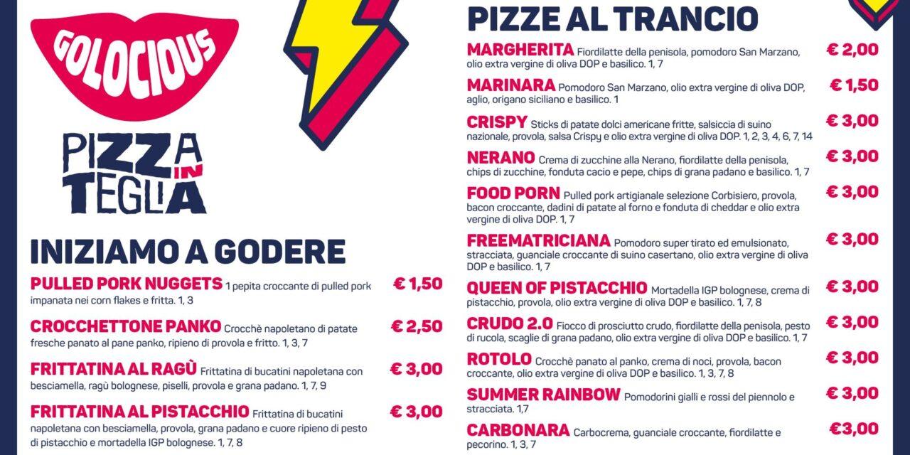 Portici, arriva la pizza in teglia di Golocious