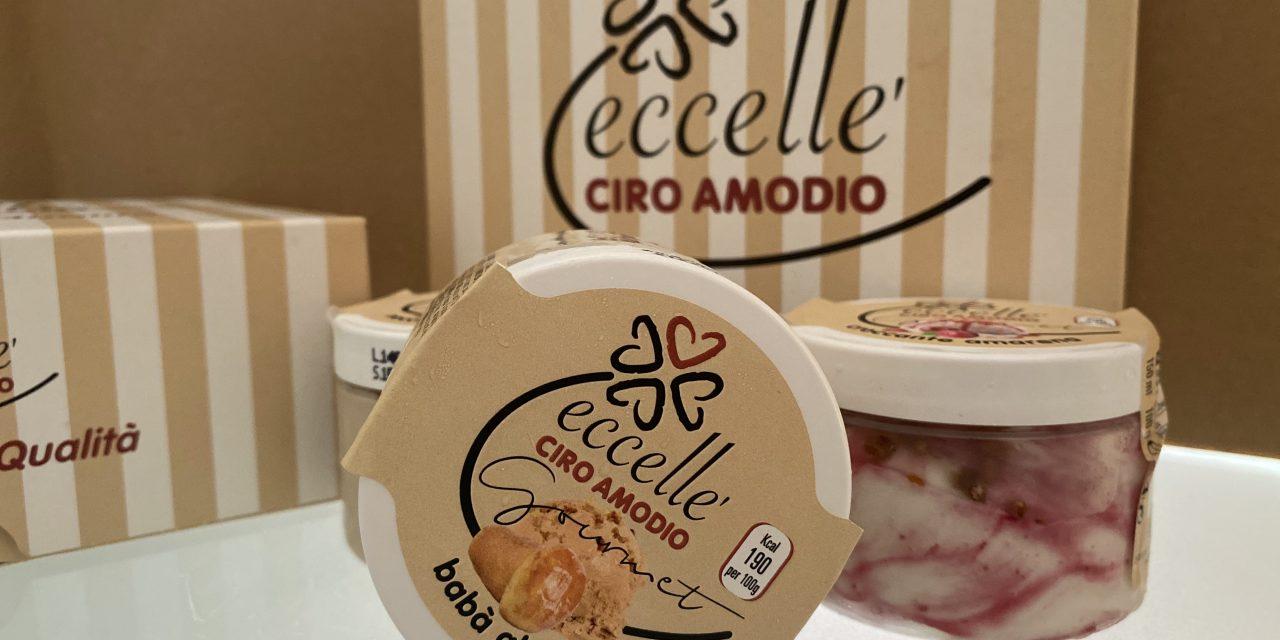 Ciro Amodio lancia i gelati per la linea premium Eccellè